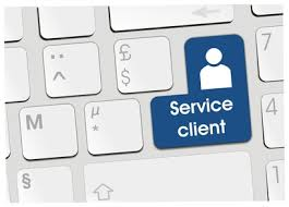 service-client en télétravail. ESAT